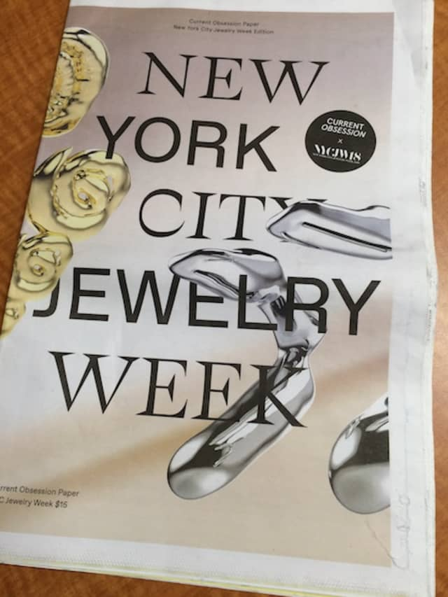 A commemorative edition – and potential collectible – from Current Obsession Paper marked the inaugural New York City Jewelry Week. Photograph by Mary Shustack.