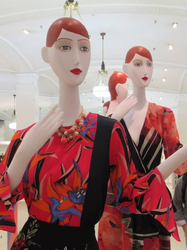 Imperfectly Perfect mannequins, the charming result of the collaboration between Ralph Pucci and Rebecca Moses, dot the main floor of Lord & Taylor in Manhattan. Photograph by Mary Shustack.