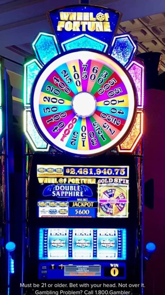 The woman was playing Wheel of Fortune when she hit the jackpot Saturday.