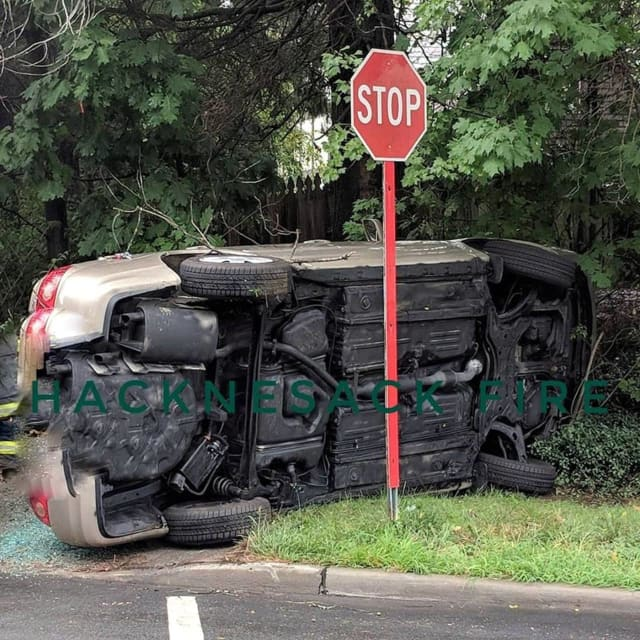 Hackensack rollover on Summit and Fairmount avenues.