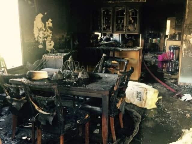 Tony Gonzalez and the Chiarello family's home caught fire on April 20.