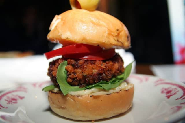 Crab cake burgers are on the Thanksgiving menu according to a Delish.com report.