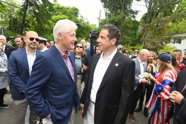 Bill Clinton and Gov. Andrew Cuomo see eye to eye at the New Castle Memorial Day Parade last week, but the same can't be said as far as U.S. Sen. Kirsten Gillibrand, D-NY, goes.