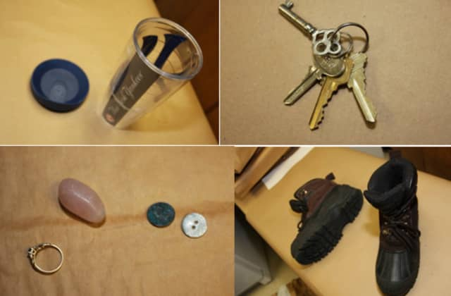 Items found in the woman's possession.