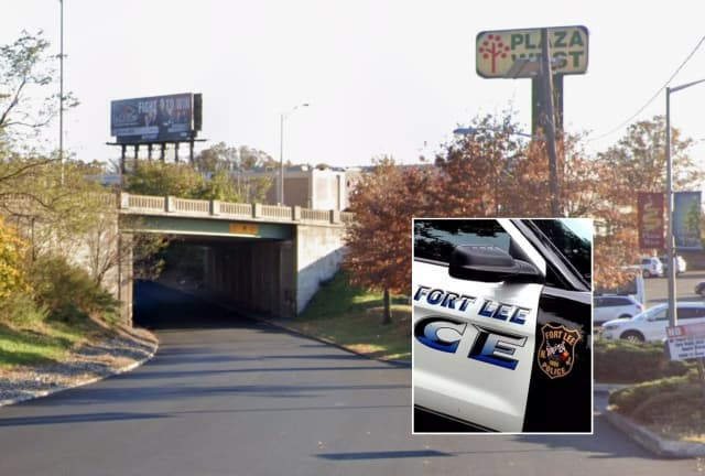 The underpass where the pedestrian was struck in Fort Lee is just outside the Plaza West shopping center.