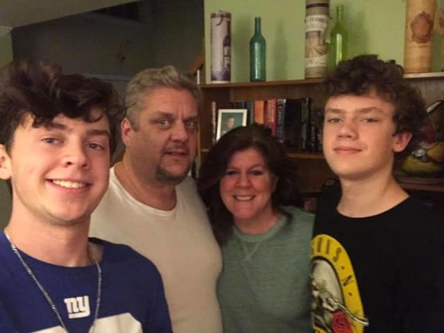 Paul Yates with wife, Joanne, and sons, Tom and Sean.