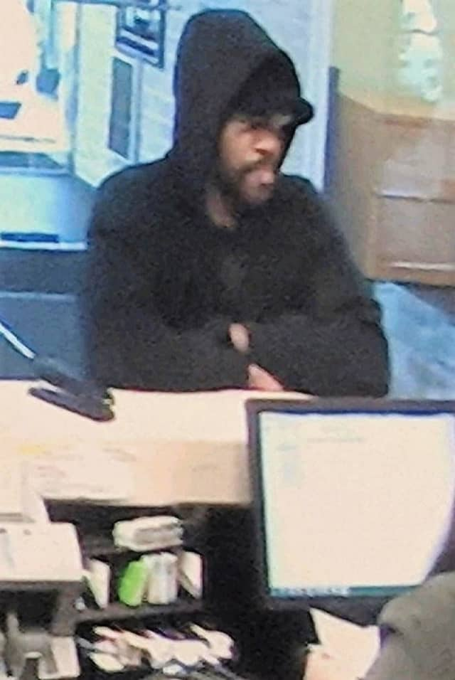 Surveillance image from Nov. 13 TD Bank robbery in Hackensack.