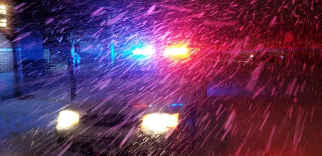 Police in Fairfield County were busy during Thursday's first storm of the season.