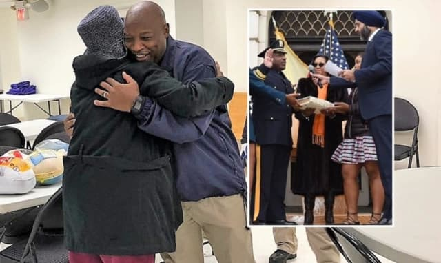 New Bergen County Sheriff Anthony Cureton jumped into his new position even before he was sworn in, helping deliver Thanksgiving turkeys this past weekend to families in need.