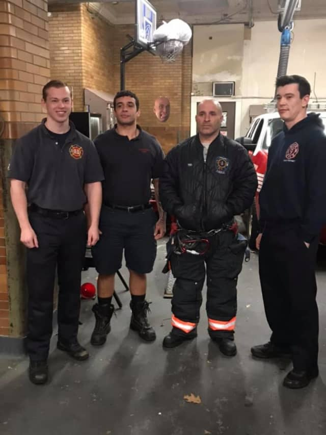 The Yonkers firefighters from Engine 307 who delivered the baby.