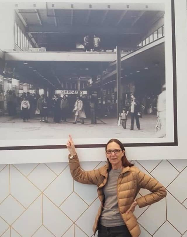 Denise Hamilton spotted herself in an archived photo hanging in Bergen Town Center.
