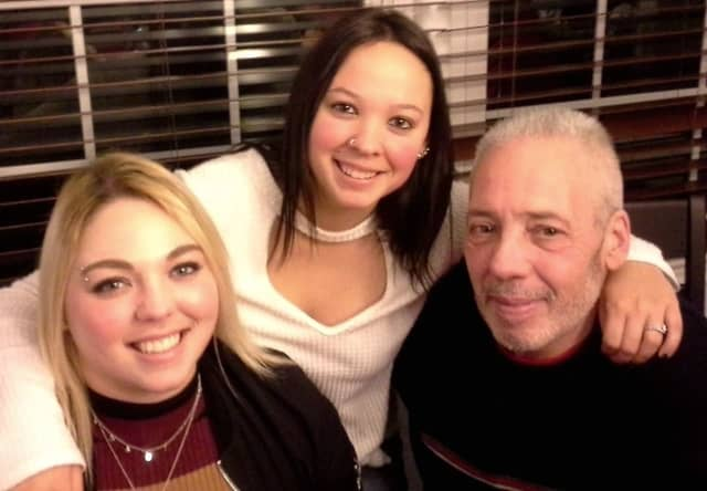 Mike Mancinelli with daughters Nikki and Paula.