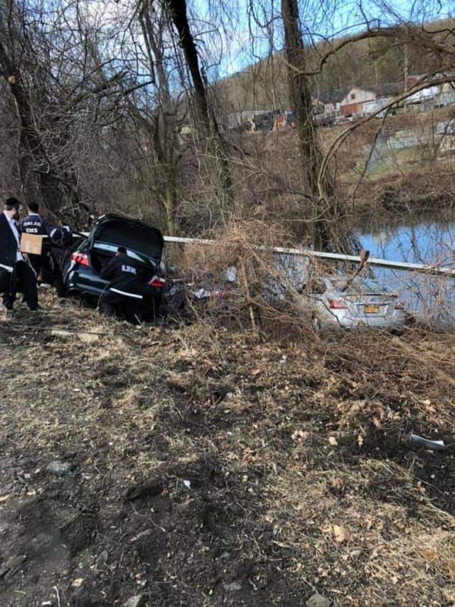 Three people were injured in a three-vehicle crash in Orange County.