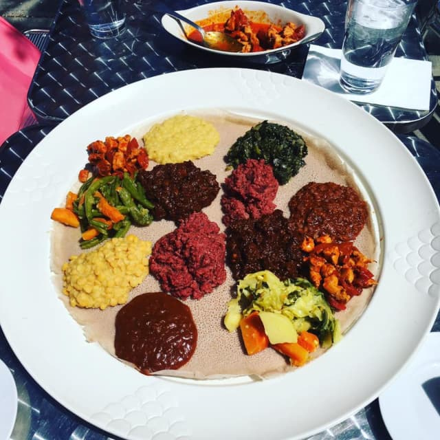 A dish at Lalibela restaurant in Mount Kisco