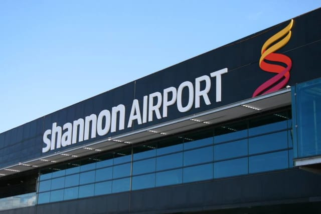 The plane landed at Shannon Airport where the woman was met by emergency medical crews.
