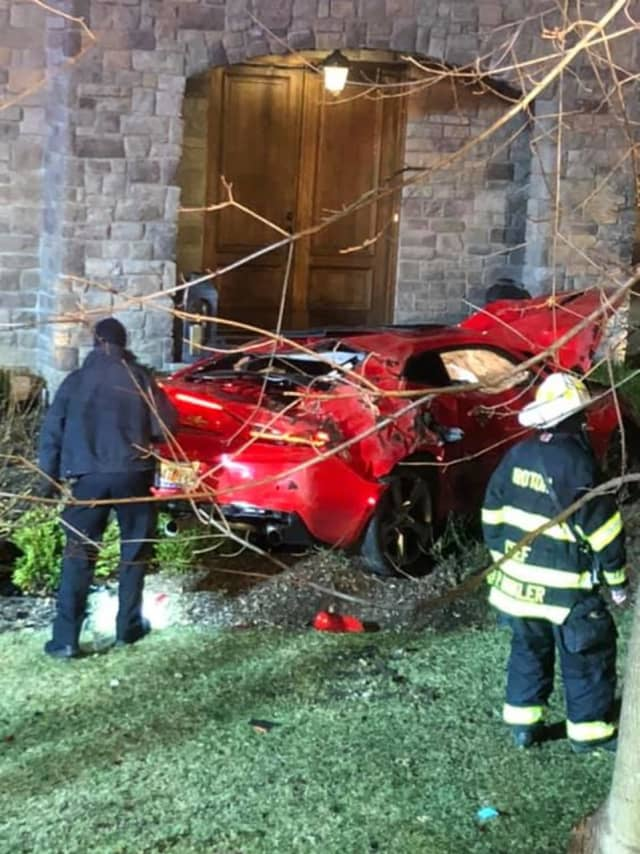 Police are looking for a driver who fled the scene after crashing a vehicle, narrowly missing a building.