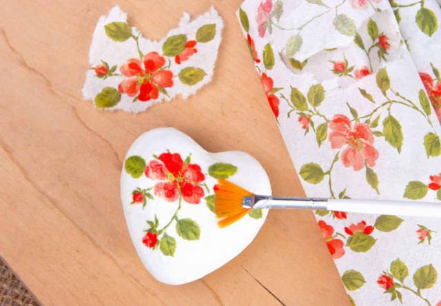 Learn decoupage at a Somers Library workshop.