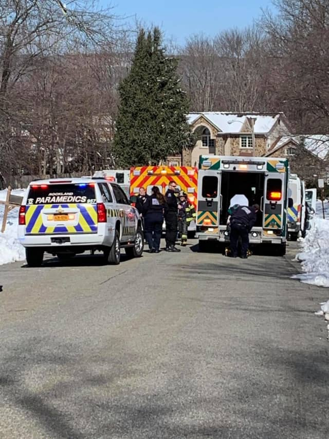 Ramapo Police and the Tallman Fire Department are on the scene of a CO exposure incident.