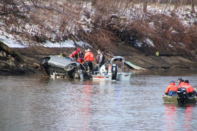 Dive teams recovered the vehicle.