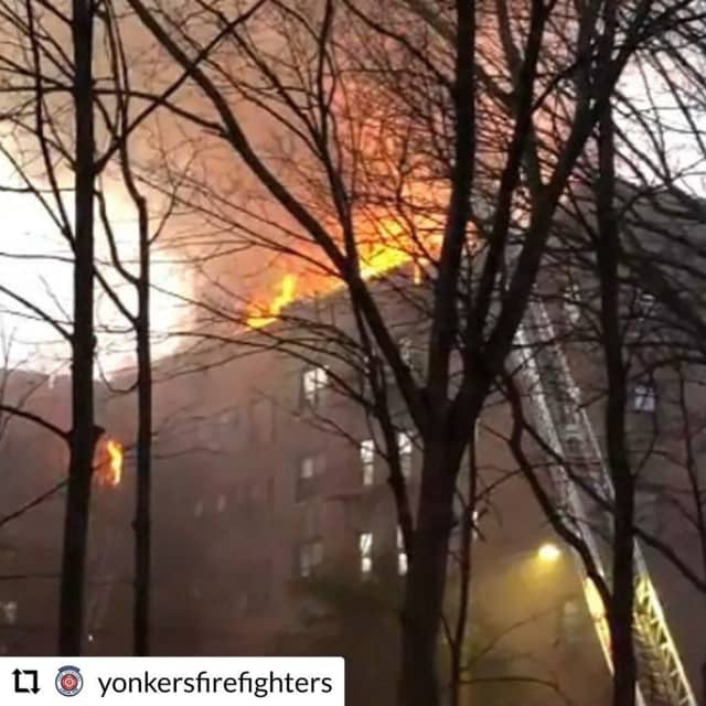 A massive Yonkers apartment fire left 150 homeless.