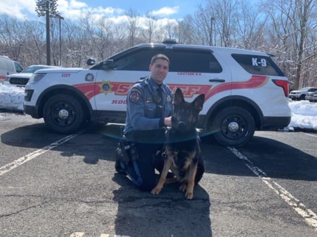 The newest member to the Rockland County Sheriff's Office, K9 Mac.