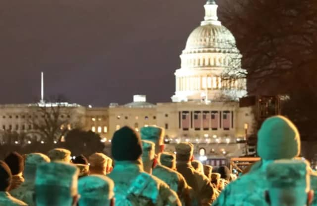 """Second and third looks"": All 25,000 National Guard troops and U.S. Army staff assigned to the presidential inauguration in Washington, D.C. were being vetted."