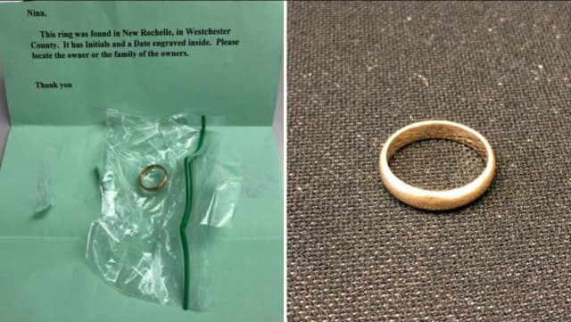 A missing wedding ring was reported in New Rochelle