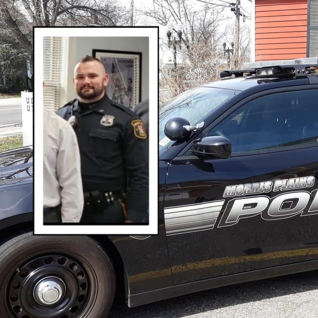 Morris Plains Police officer Adam Klymko