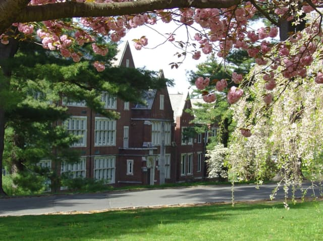 Scarsdale High School, located at 1057 Post Road, is cited for its distinctive red-brick exterior and its 99 percent graduation rate.