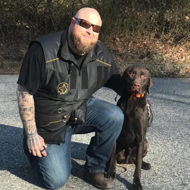 Justin Baltin, 37 of Hewitt and formerly Fair Lawn owned Tri-State K9 Services.
