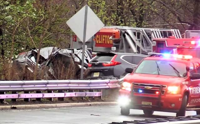 Clifton police, firefighters and EMS responded to the crash, which closed the highway while the wreckage was cleared and an investigation was conducted.
