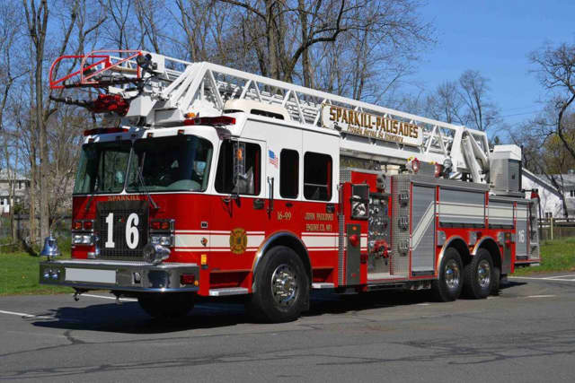 Sparkill firefighters rescued two disabled residents from a fire on Wednesday on Closter Road.
