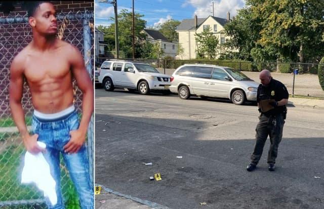 Khalid Lisbon / At the scene of the shooting on Hamilton Avenue off Rosa Parks Boulevard.
