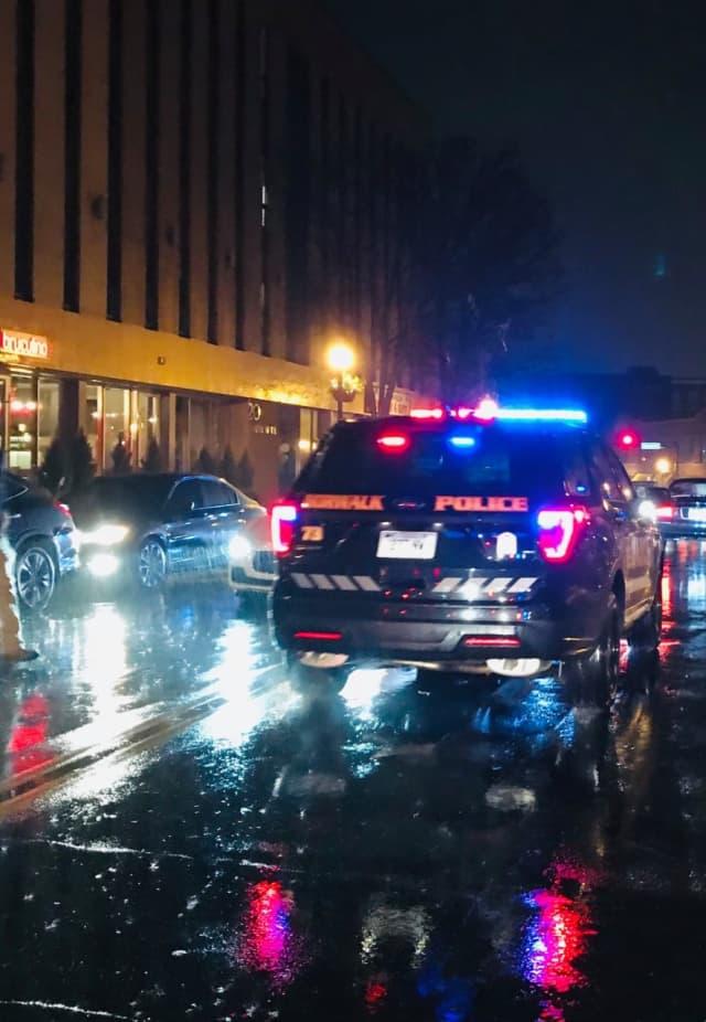 The scene of the hit-and-run in Norwalk.