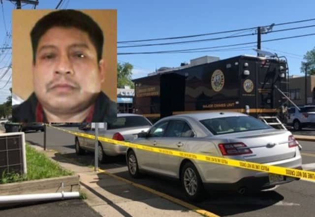 WANTED: Jose D. Perez Vasquez is charged with murder and weapon possession in the killing of Uvaldo de Gabriel Aguilar, 43, also of Bergenfield.