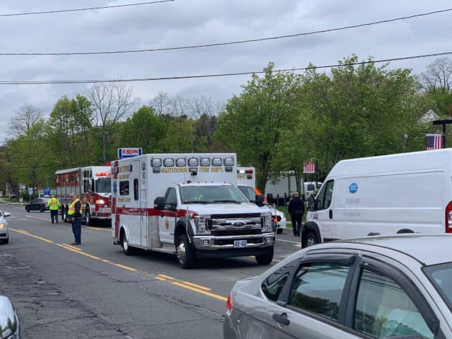 Two people had to be taken to area hospitals following a crash in Smithtown during the morning rush hour Wednesday, May 1.