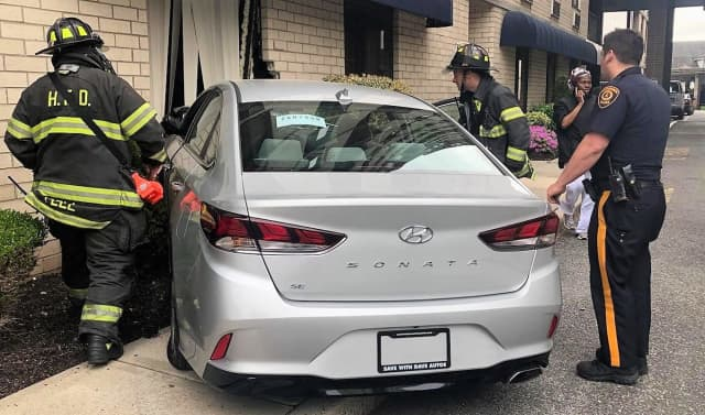 The 90-year-old Hackensack driver refused medical attention, police said.