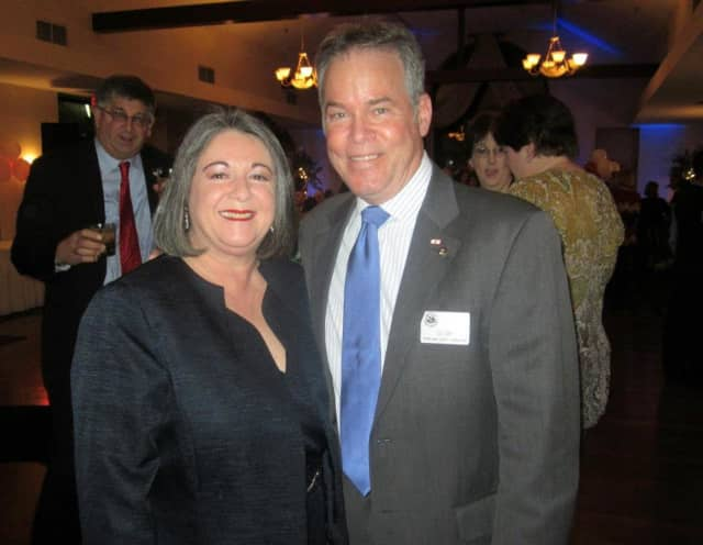 Iliana Eckert, the North Rockland School Superintendent has been named to the Rockland Community College Board of Trustees. Shown here with Rockland County Executive Ed Day.