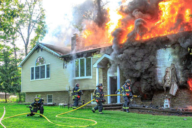 An East Fishkill home was destroyed by a fast-moving fire.