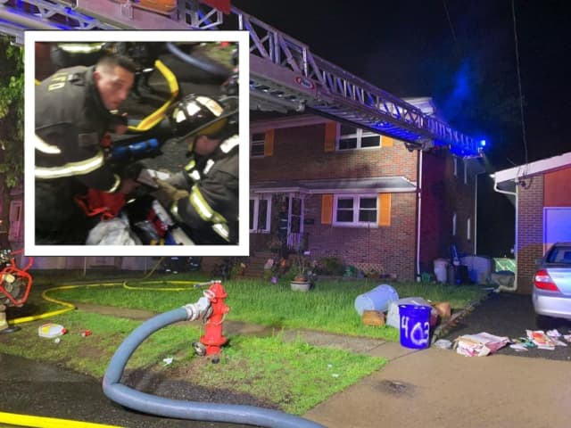 Firefighters revived two cats with pet oxygen masks during a Lyndhurst house fire early Wednesday morning.