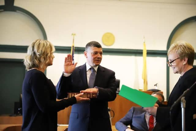 Mark Musella was sworn in as the new Bergen County prosecutor Monday.