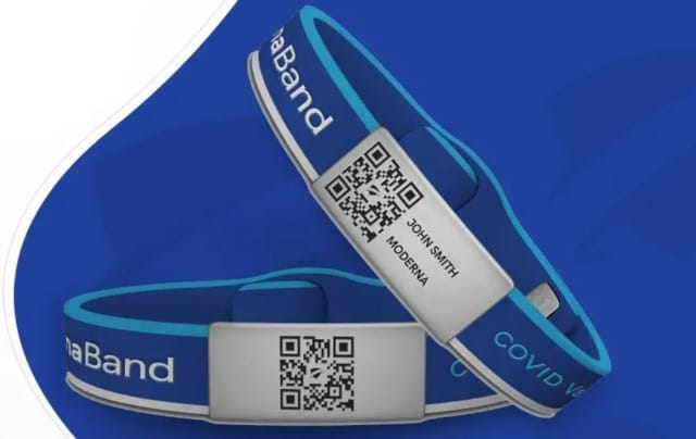ImmunaBand can serve as a wearable vaccination pass.