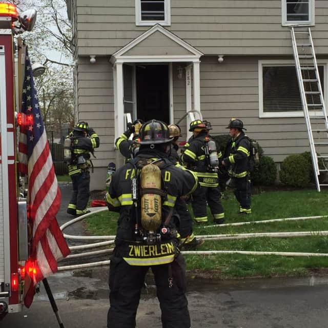 Fairfield Firefighters on the scene at 182 Alden St.
