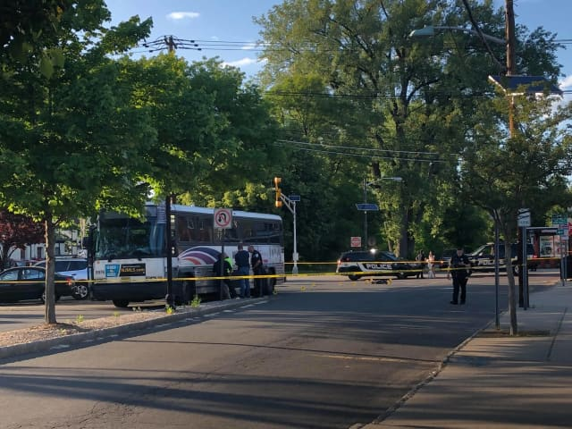 Authorities were investigating after a boy was hit by a bus Monday afternoon in Bergenfield. He died from his injuries, authorities said.