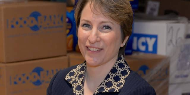 Leslie Gordon, CEO of The Food Bank for Westchester is doing her part in feeding low-income residents in the community.