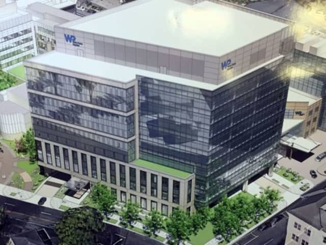 An artist's rendering of the new nine-story White Plains Hospital Outpatient Care Facility.