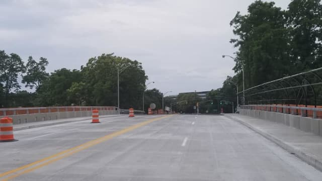 The Paramus Road overpass has been reopened.
