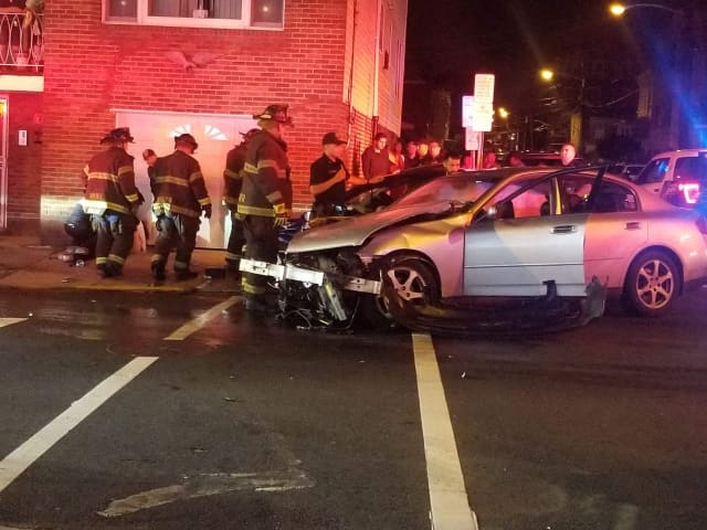 A woman who was seriously injured in a crash in West New York Tuesday. has died, authorities said.