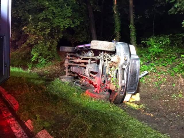 One person had to be extricated following a single-vehicle rollover crash.