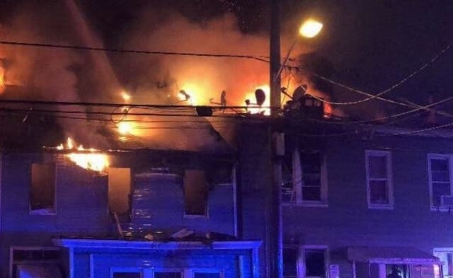 There was no immediate word on a possible cause of the five-alarm fire on Summer Street, which broke out around 1:30 a.m. destroyed three buildings and damaged another.